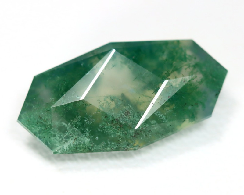 moss agate faceted master cut