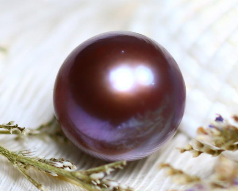 14.60MM 21.42Ct Natural Tahiti Aubergine Color Pearl  D1210/A245