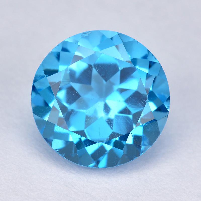 London Blue Topaz 3.52 Cts Rare Fancy Color Natural Gemstone