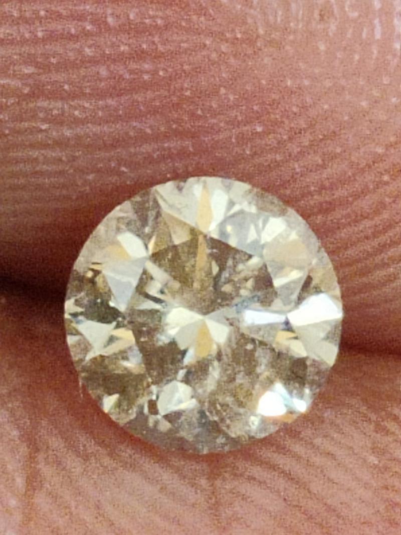 NATURAL  CHAMPANGE DIAMOND-0.75CTW-1PCS