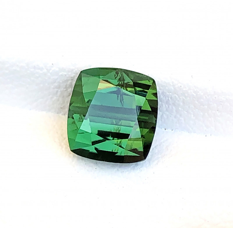 2.80 Carats Natural Green Tourmaline Cut Stone from Afghanistan