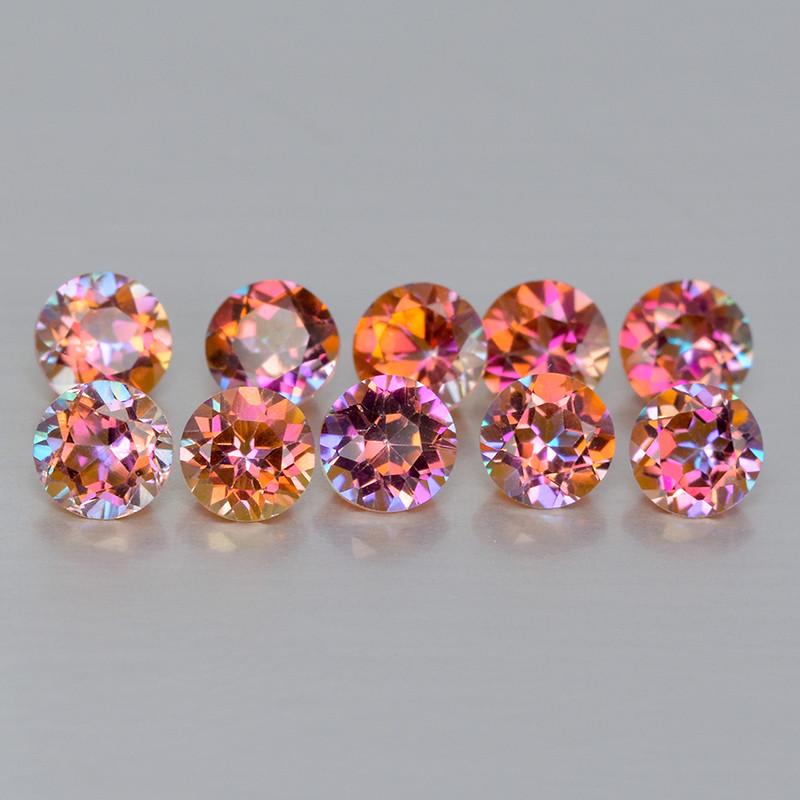 Mystic Topaz 1.36 Cts 10 Pcs Fancy Multi-Color Natural Gemstone - Parcel