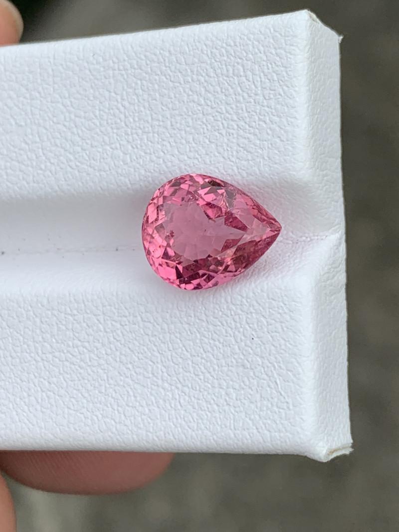 pink tourmaline gemstone 3.42