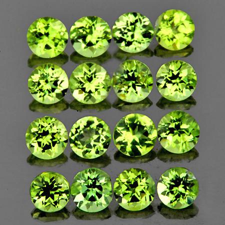 2.50 mm Round 40pcs 2.83cts Green Peridot [VVS]