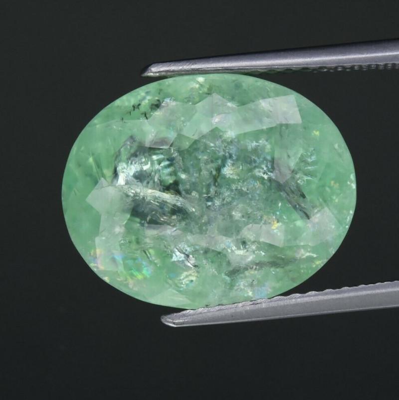 CERTIFICATE Incl. 11.63ct Oval Natural Unheated Bluish Green Paraiba Tourma