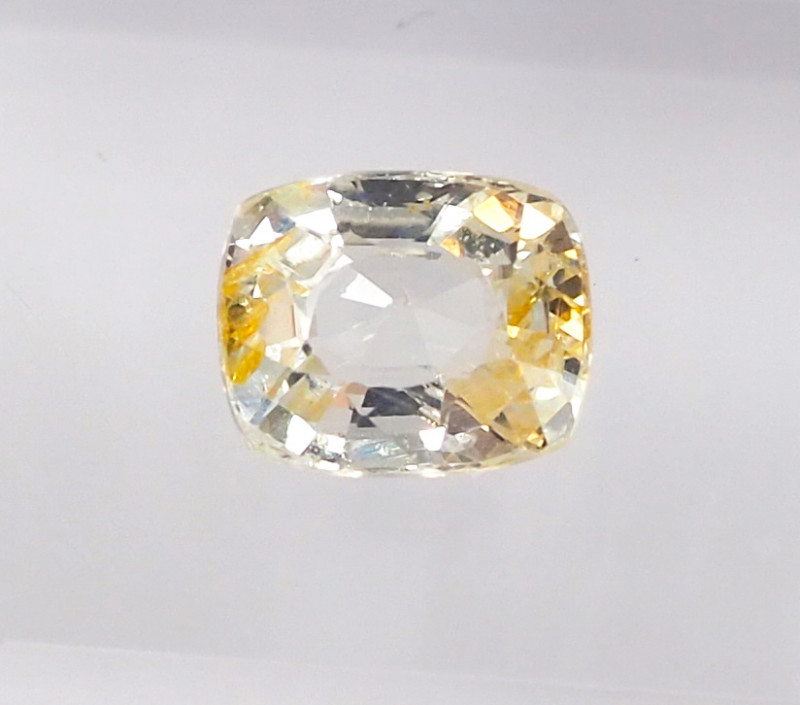 1.07ct unheated yellow sapphire