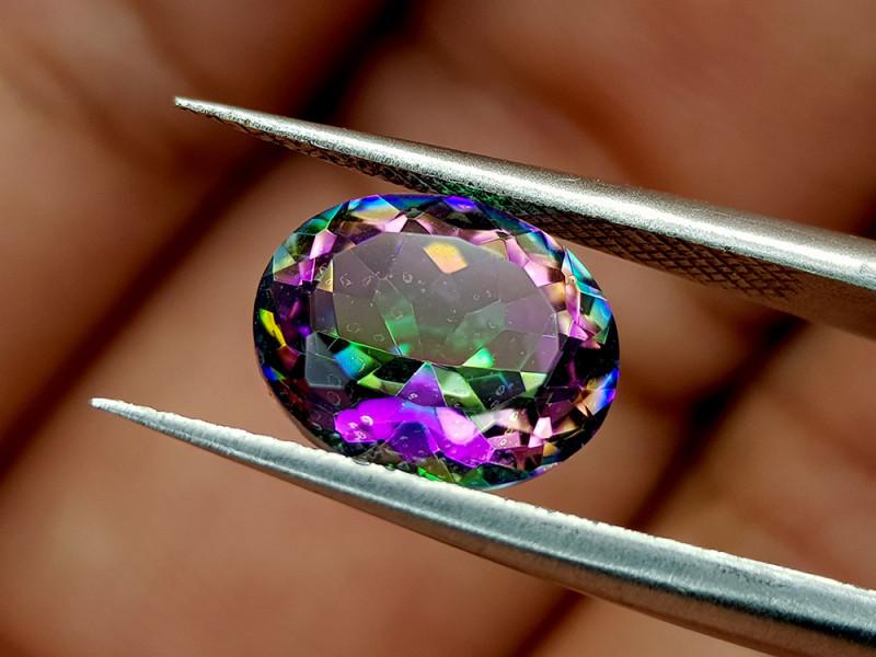 2.45Crt Mystic Quartz Natural Gemstones JI78