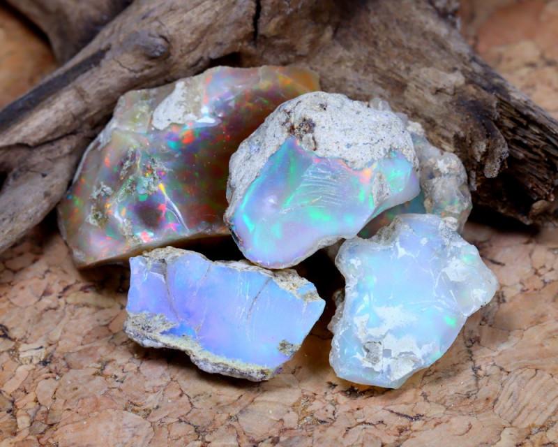 Welo Rough 51.3Ct Natural Ethiopian Welo Opal Rough Parcel B1707
