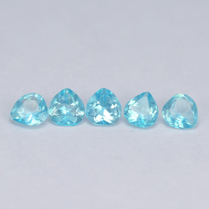 Mystic Topaz 1.42 Cts 5 Pcs Rare Sea Blue Color Natural Gemstone