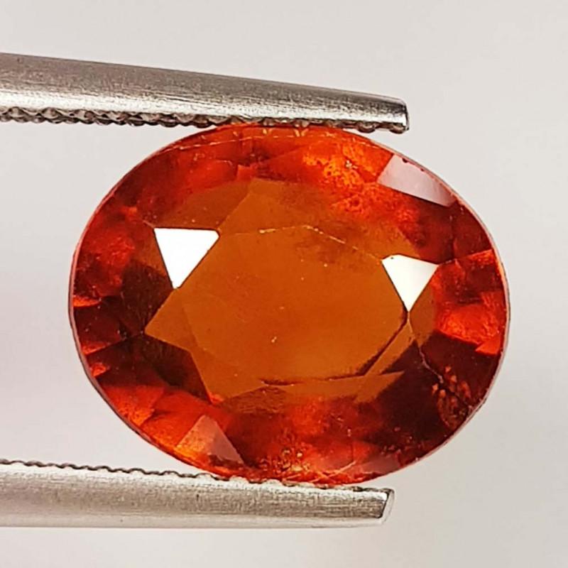 5.64 ct  AAA Grade Gem Oval Cut Natural Hessonite Garnet