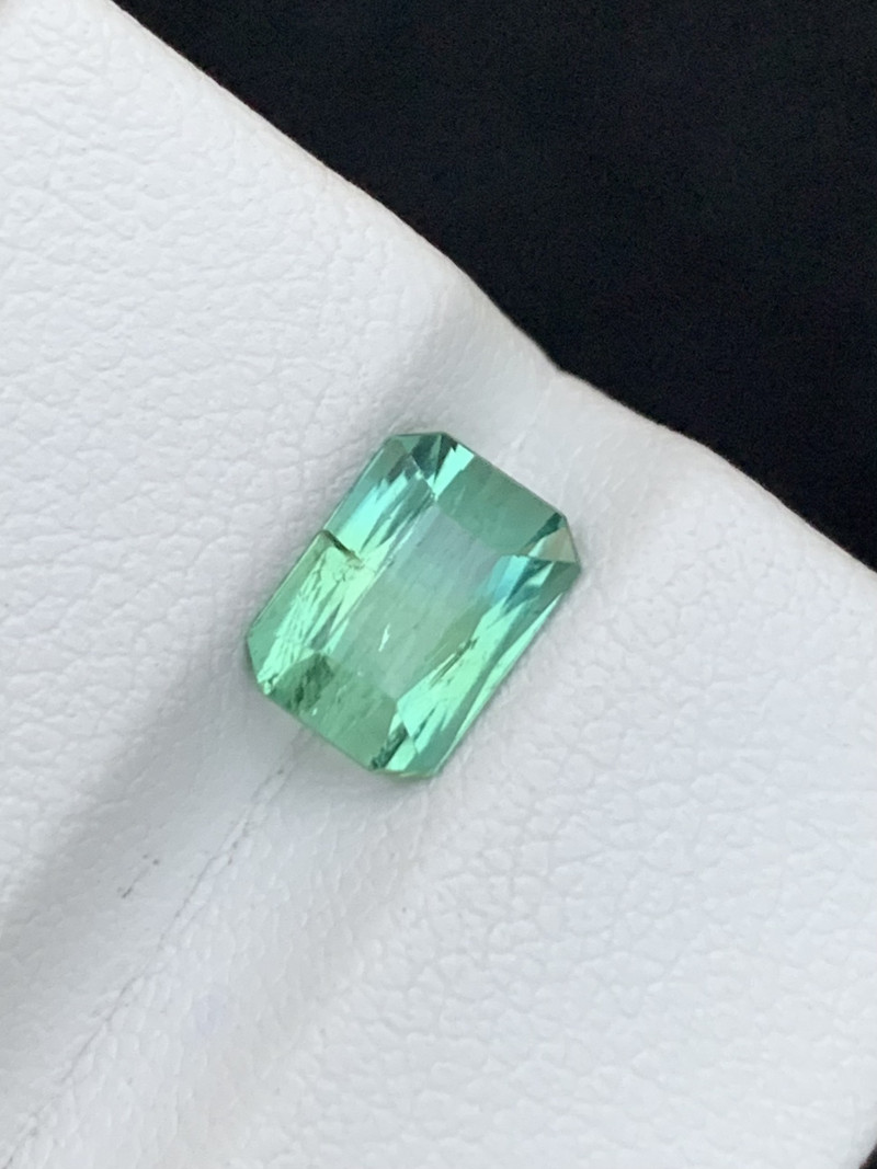 1.70 carats bluish Green  Tourmaline Gemstone