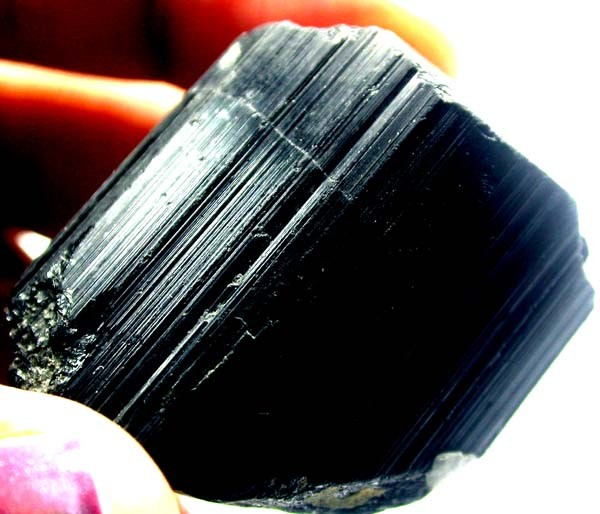 BLACK TOURMALINE ROUGH  161 CTS AS-2237