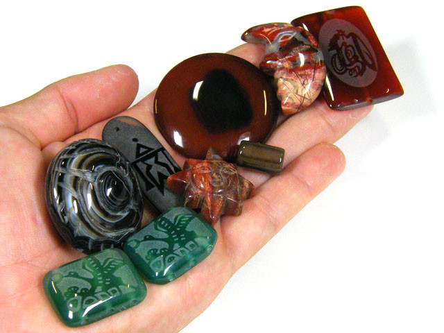 RE SELLERS DEAL SPECIAL AGATE BEADS ONLY $3.00  TR 632
