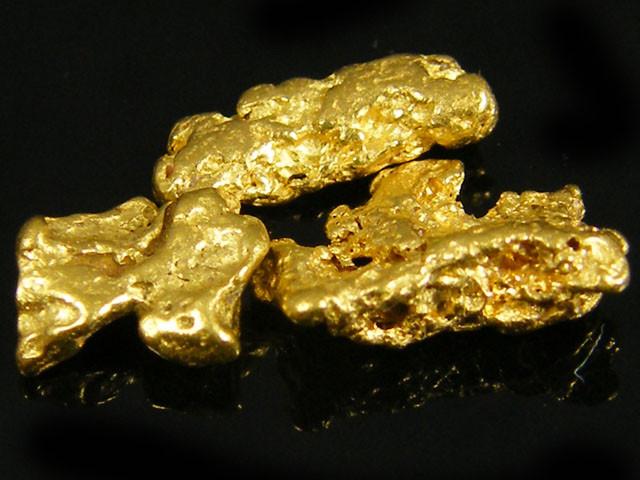 3X AUSTRALIAN  ALLUVIAL GOLD NUGGETS 1.71 GRAMS  LGN 772
