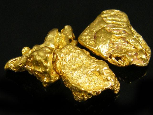 3X AUSTRALIAN  ALLUVIAL GOLD NUGGETS  1.57 GRAMS  LGN 775
