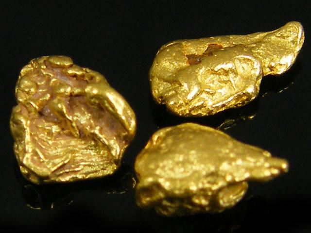 3X AUSTRALIAN  ALLUVIAL GOLD NUGGETS1.59   GRAMS  LGN 780