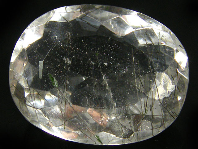 LARGE FACETED RUTILATED QUARTZ 68.55 CTS 0353-3