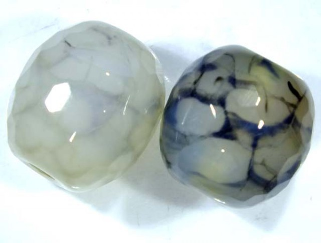 WEB AGATE DRILLED 2 PC 39.55 CTS  NP-1307