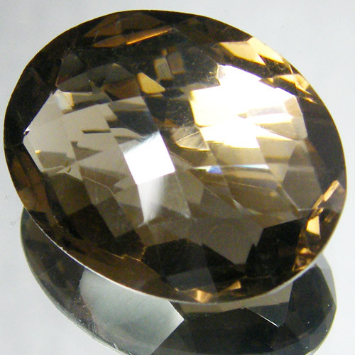 LARGE SMOKEY FACETED TOPAZ  21.95 CTS  ST 736