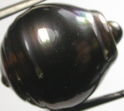 TAHITIAN PEARLS -BLACK BAROQUE PEARL-  14/15  MM [PF1146 ]