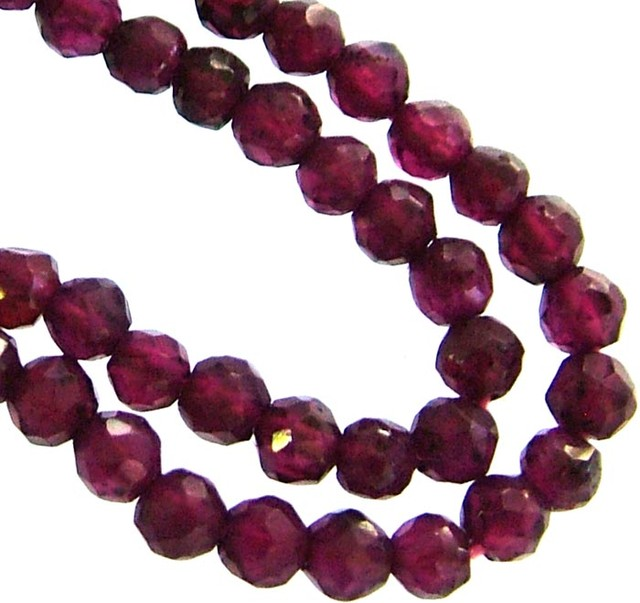 A GRADE FACETED GARNET BEAD RUBY LIKE COLOUR 45.90CTS GT1996