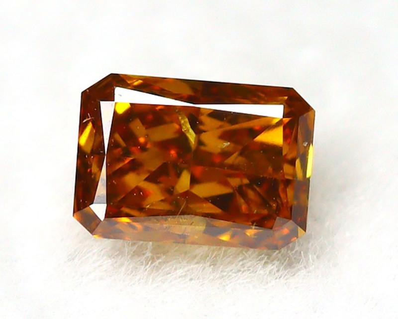 Orange Diamond 0.15Ct Natural Untreated Genuine Fancy Diamond BM970