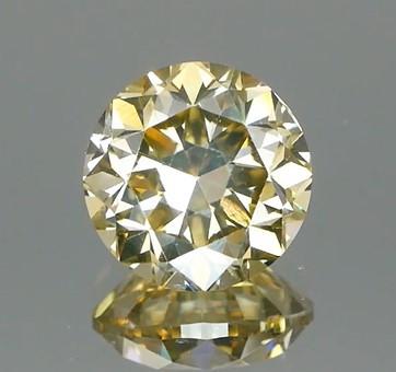 Full Luster Champagne Yellow Natural Diamond 1.02Ct.