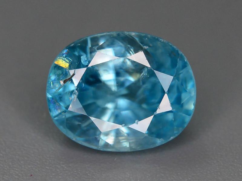 AAA Brilliance 3.65 ct Blue Zircon