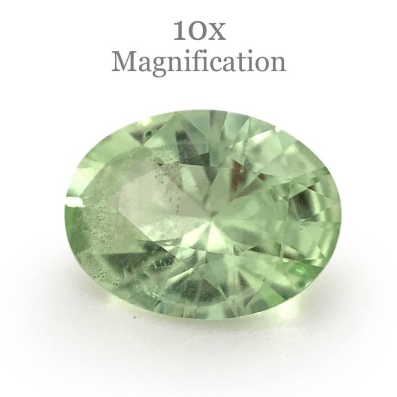 1.12ct Oval Mint Green Garnet from Merelani, Tanzania