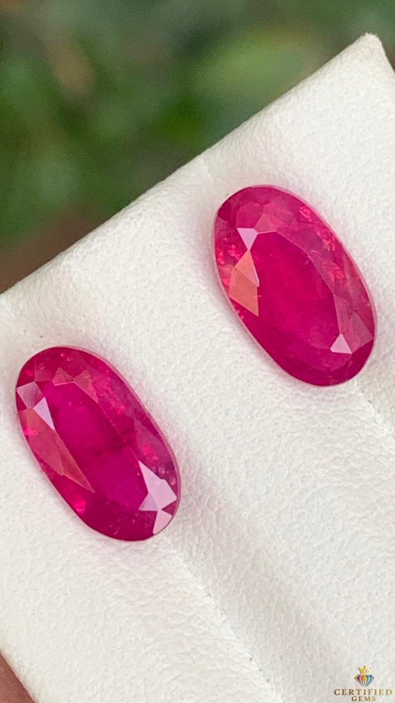 Top 6.15 Carats Natural Ruby Pair