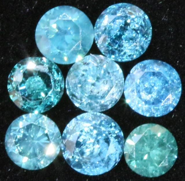 PARCEL 8  X 2 POINTERS VS BLUE DIAMONDS 0.33 CARATS  OP 1140