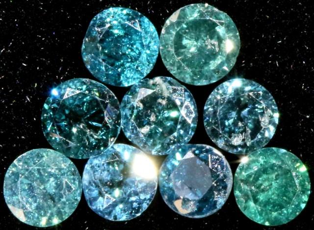 PARCEL  9 X 2 PONTERS VS BLUE DIAMONDS  0. 33CARATS  OP 1139