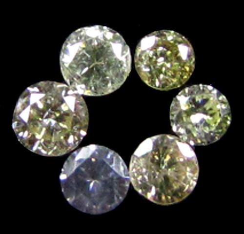 PARCEL 6 ARGYLE CHAMPAGNE  DIAMONDS VS 0.20 CARATS  OP 1151
