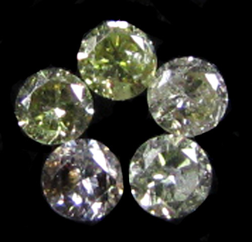 PARCEL 5 ARGYLE  CHAMPAGNE  DIAMONDS VS 0.20 CARATS  OP 1152