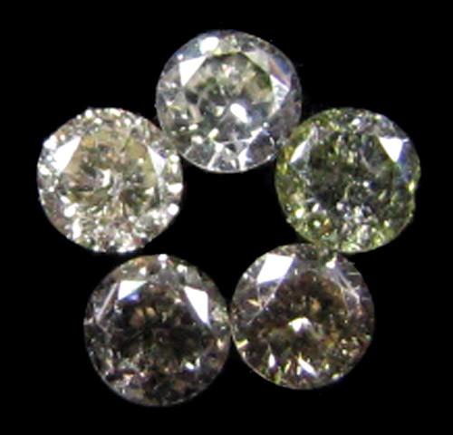 PARCEL 5 ARGYLE CHAMPAGNE  DIAMONDS VS 0.24  CARATS  OP 1159
