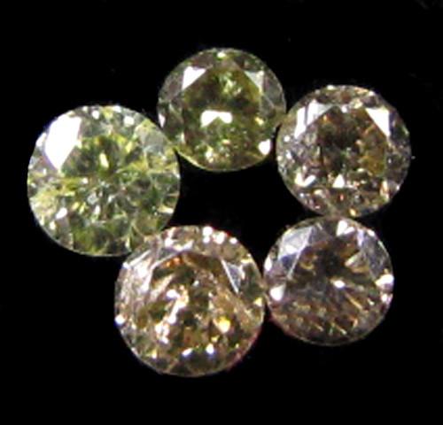 PARCEL 5 ARGYLE CHAMPAGNE  DIAMONDS VS 0.19 CARATS  OP 1164