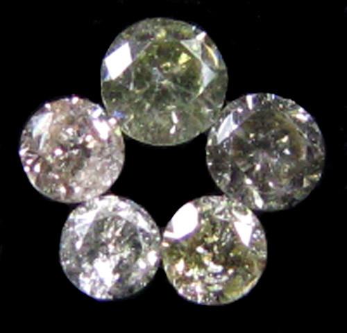 PARCEL 5 ARGYLE CHAMPAGNE  DIAMONDS VS  0.21 CARATS  OP 1165