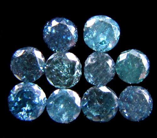 PARCEL10 X 2 POINTERS VS BLUE DIAMONDS  0.36 CARATS OP 1193