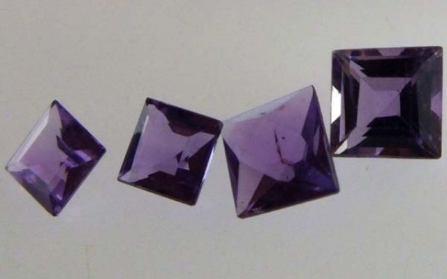 AMETHYST FACETED  STONE(2 PCS) 1.1 CTS CG-1077