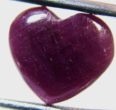 RED RUBY HEART CARVING 9.20 CTS PG-526