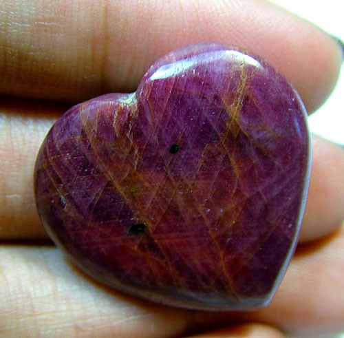 RED RUBY HEART CARVING 35.10 CTS PG-525