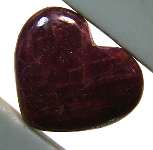 RED RUBY HEART CARVING 16.60 CTS PG-520