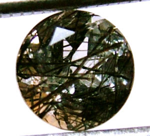 FACETED TOURMALATED QUARTZ 1.10 CTS PG-523