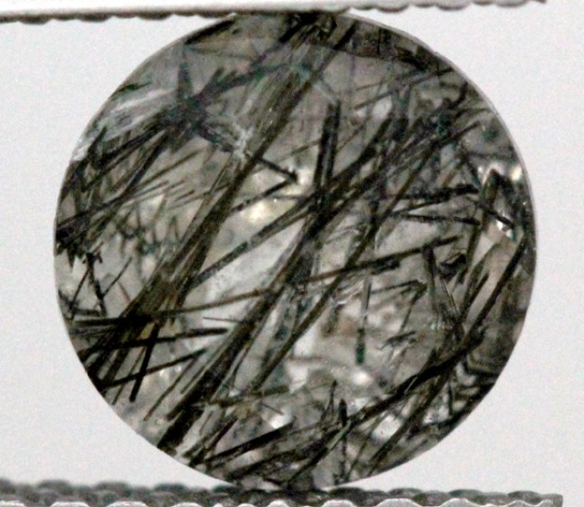 FACETED TOURMALATED QUARTZ  1.05 CTS PG-636