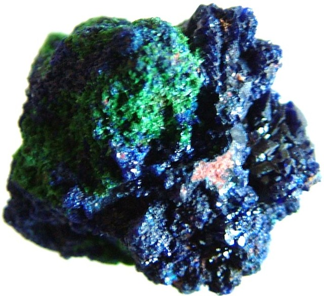 AZURITE +MALACHITE SPECIMEN FROM MOROCCO 16.95 CTS [MX6233]