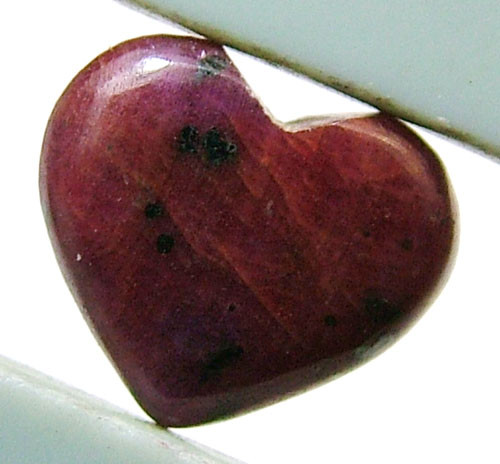 RED RUBY HEART CARVING 8.55 CTS PG-561