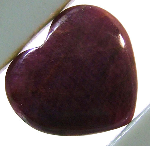RED RUBY HEART CARVING 11 CTS PG-546