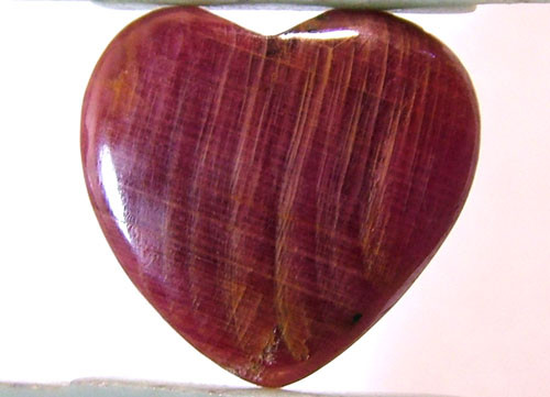 RED RUBY HEART CARVING 19 CTS PG-543