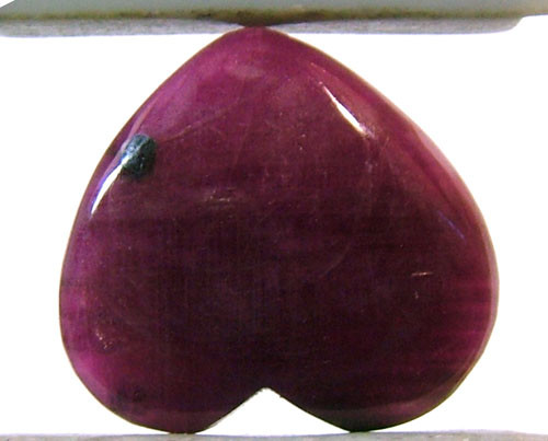 RED RUBY HEART CARVING 10.20 CTS PG-547
