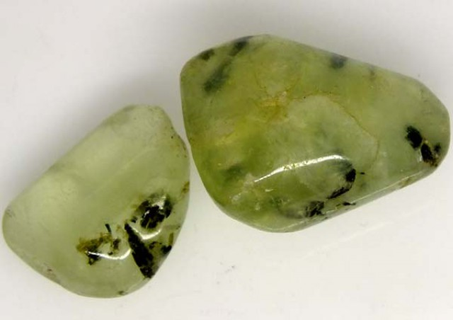 PREHNITE BEAD DRILLED 2 PCS 40 CTS   NP-1585